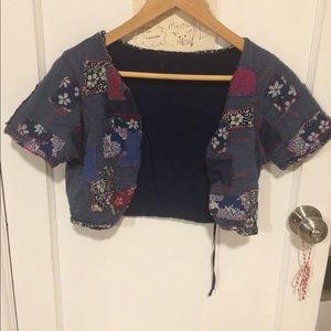 Vintage patterned free people shawl/vest